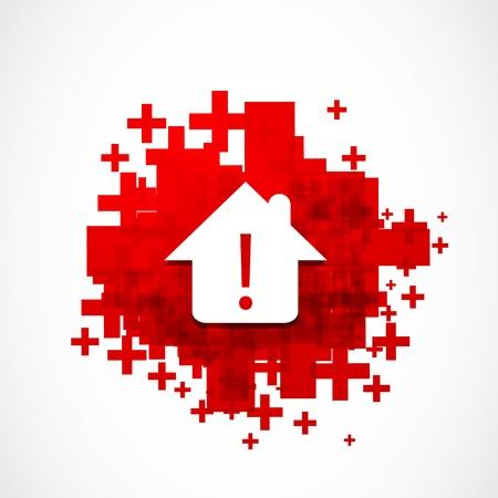 guard house: real estate warning danger concept