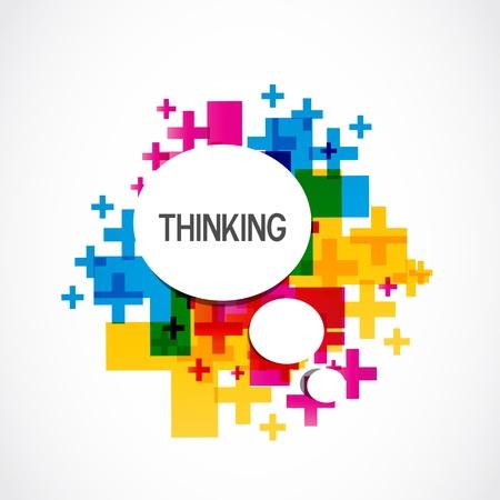 optimismo: Colorful Background Pensamiento Positivo