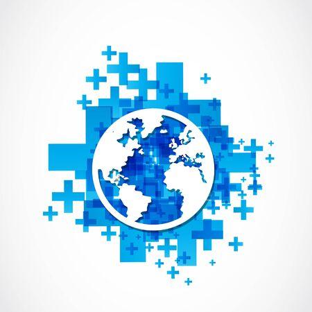 business world globe concept Stock Vector - 19369957