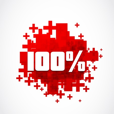 Destockage 100 percent promotion Vector