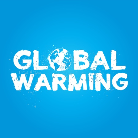 Global Warming Grunge Concept Vector
