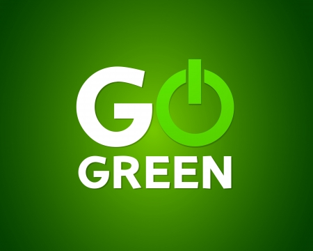 eco icons: Go green power