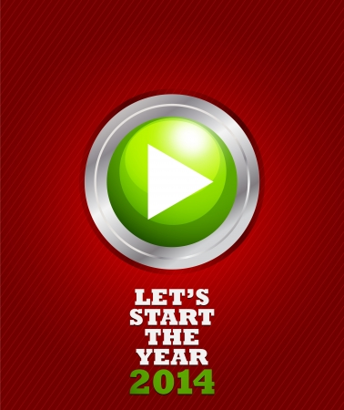New year 2014 start button Stock Vector - 20384126