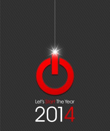 幸せな新年 2014年開始します。