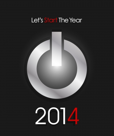Happy New year start 2014 Stock Vector - 20384128