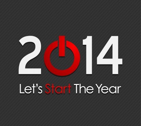 New year 2014 Stock Vector - 20384139