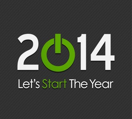 Happy New Year 2014 Stock Vector - 20384140