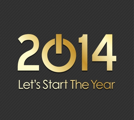 turn of the year: Start 2014 power concept