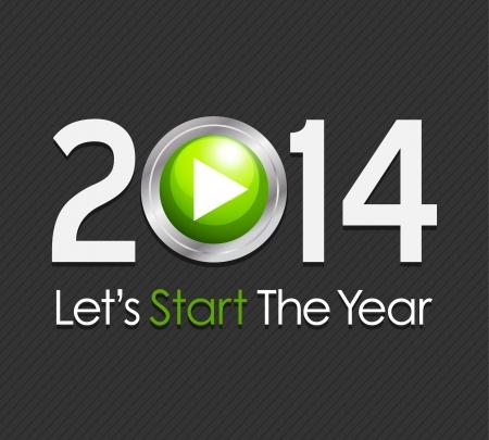 Start Year 2014 Stock Vector - 20384145