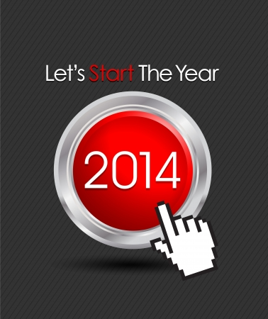 2014 web start button Vector