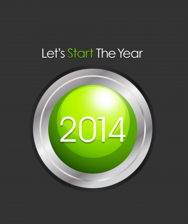 Start 2014 Stock Vector - 20384122