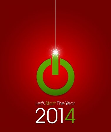 Start New Year 2014 Stock Vector - 20384124