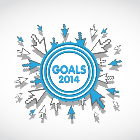 2014 Target Business Goals Stock Vector - 20428007