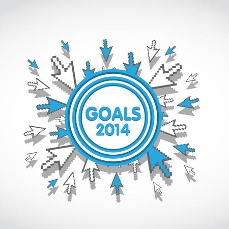 2014 Target Business Goals Stock Vector - 20428007