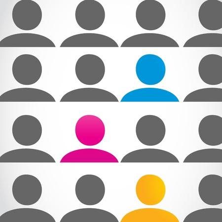la gente: diversit� gente concetto Vettoriali