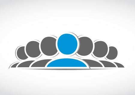 business social connection team Stock Vector - 21946463