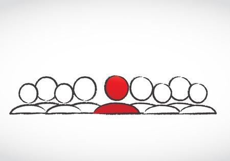 個々 の概念  イラスト・ベクター素材
