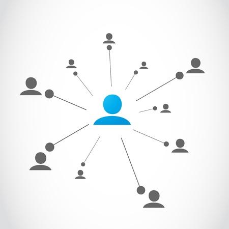 ネットワーク グループの概念  イラスト・ベクター素材