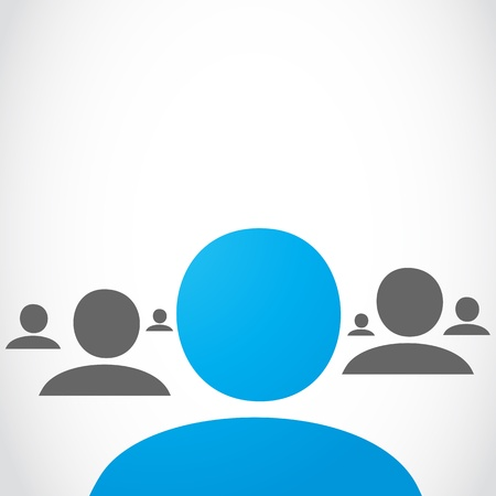 Social network group Illustration
