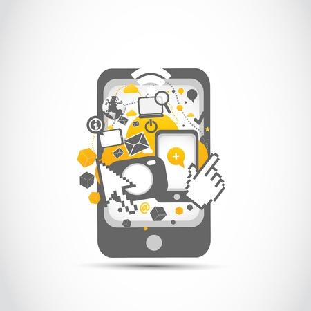 concepto: tecnología de red de la comunidad