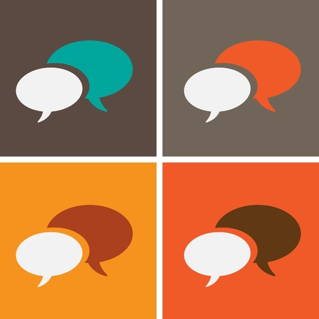 dialog speech bubbles Stock Vector - 21946554