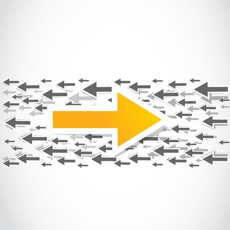 contra: contra decision, choice arrow