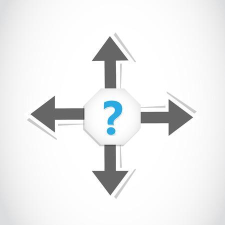 direction decision arrow Stock Vector - 22706169