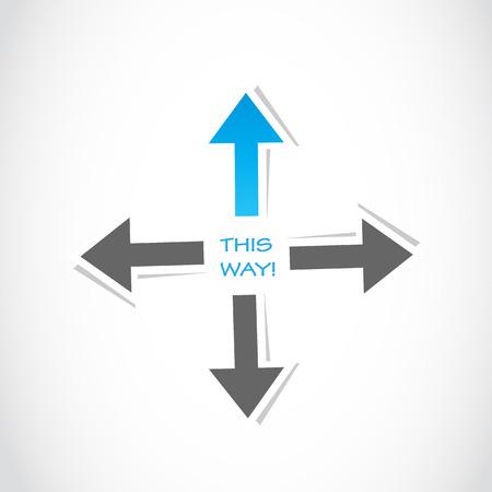 this way arrow business success Stock Vector - 22706190