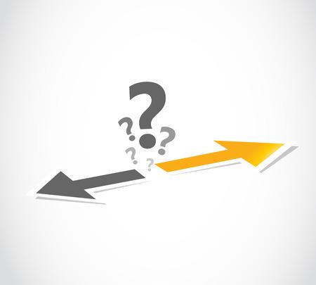 decision, choice arrow concept