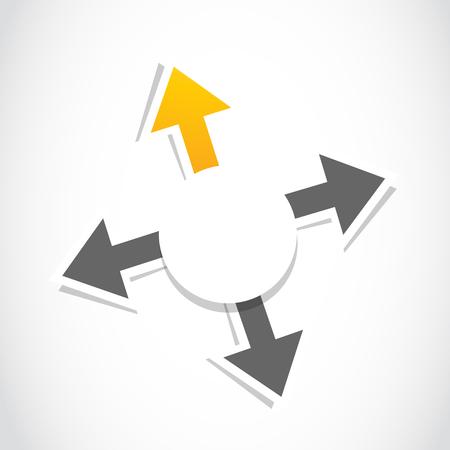 decision, choice arrow Stock Vector - 22706193