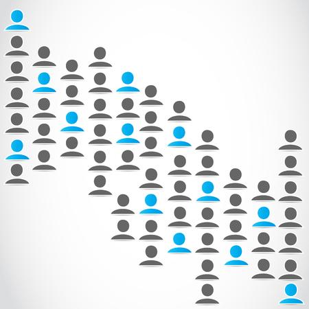 social gathering: social media network group Illustration