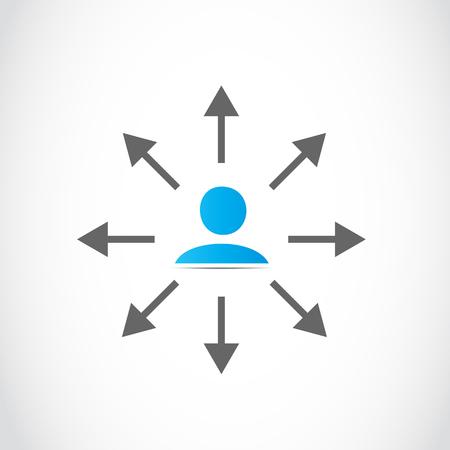 choosing direction travel arrow Vector