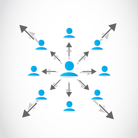 Business networked crowd Vector