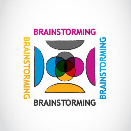 Brainstorming group Illustration