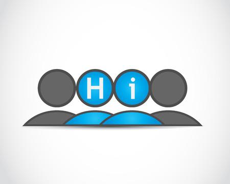 Hi  Business meeting Stock Vector - 22704584