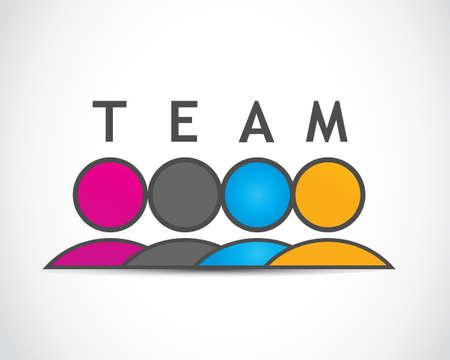 organisation: Team, Teamwork Illustration