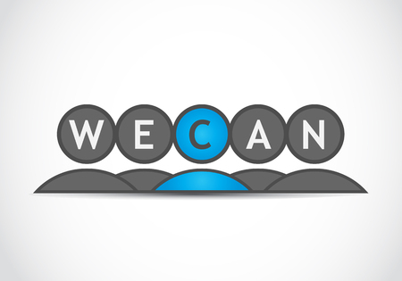 yes we can: We can business group Illustration