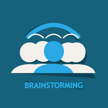 Brainstorming, Sharing ideas Stock Vector - 22748720
