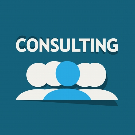 consultants: Consulting Team Illustration