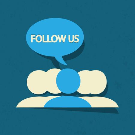 Follow us social media Vector