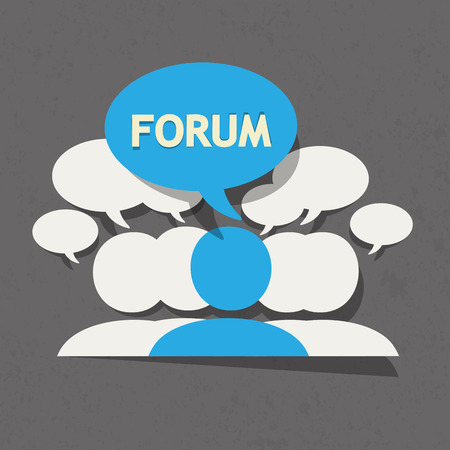 forum: Forum group with speech bubble Illustration