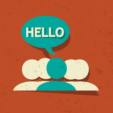 meet: Vector Hello Speech Bubble