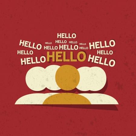 Hello Tagcloud Concept Stock Vector - 22748742