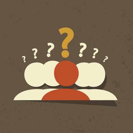 questioning: Questions Group Illustration