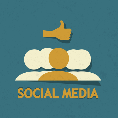 Social Media Thumb Up Vector