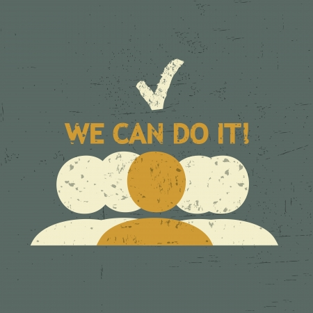 yes we can: We Can Success Group Illustration