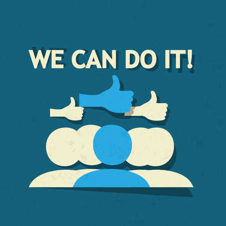 yes we can: Thumbs Up We Can Concept