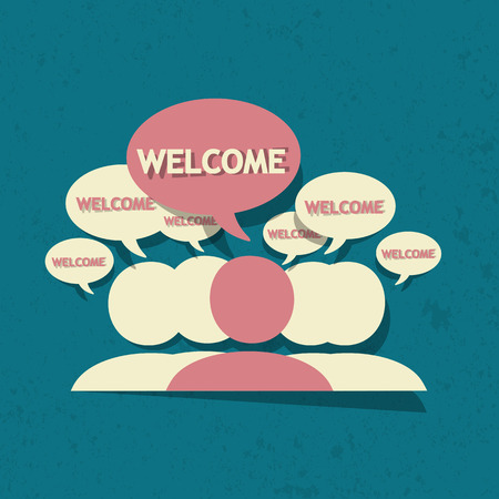 welcome party: Welcome Illustration