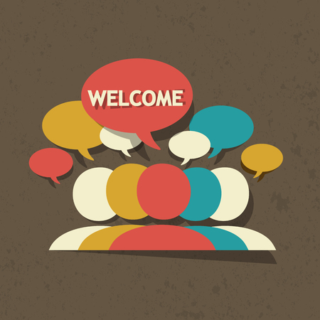welcome group Stock Vector - 22748785
