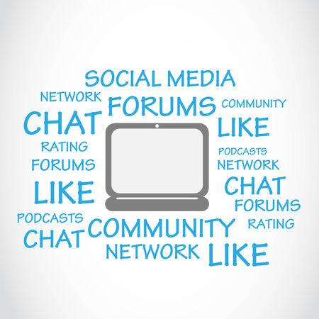 podcasts: Social Media, Chat, Forums Illustration